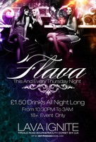 Flava Thursdays Flyer by DeityDesignz