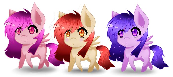 Pony Adoptables by Shiningstarlight14