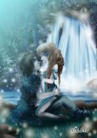 Romantic waterfall by Diddha
