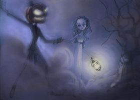 The Ghost and the Pumpkin King by smmiller09