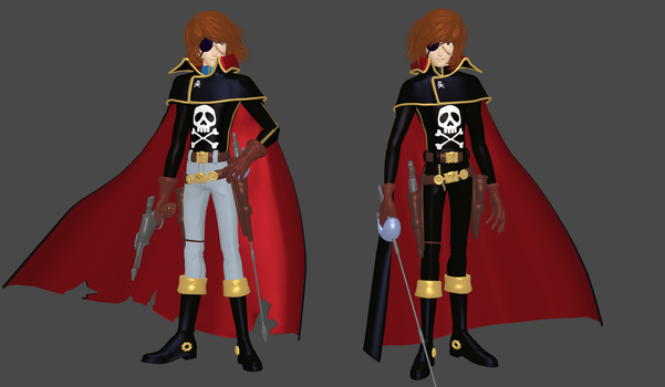 Captain Harlock mesh mod by Lopieloo