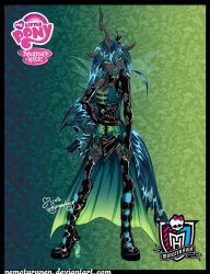 Queen Chrysalis a-la-Monster High by NemoTurunen