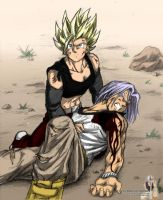 IV:VIII - Celari protects Trunks by Rider4Z