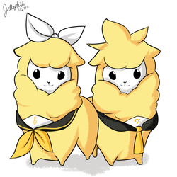 Rin and Len-paca by IceValaxy