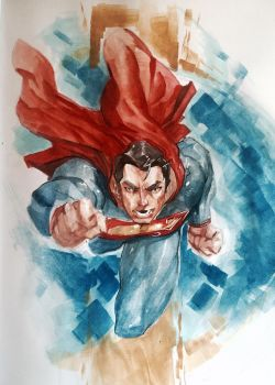 Superman WC sketch (better photo) by Alex0wens