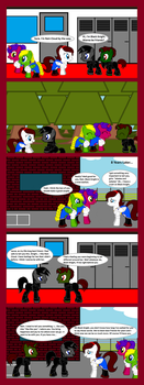 The Story of Black Knight and Rain Cloud Page 1 by MLP-Black-Knight