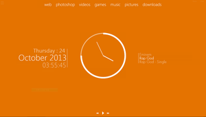 My desktop 2013-10-24 :: Plain Orange by wineass
