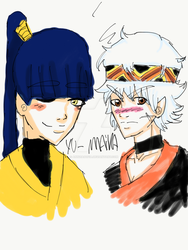 Ya and mana my two oc's for a story im Working on by annziasofia