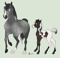 Mystery Pregnant Mare and Foal Adopt CLOSED by derp8675309