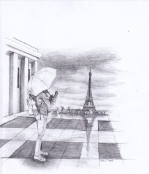 AluStaire in the rain of Paris by AluStaire