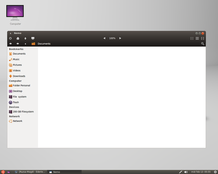 Nemo - Mockup - Linux Mint-3  (Ambience  theme  ) by MarianoGaudix