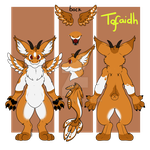 Tofaidh the Dutch Angel Dragon Reference by Takarti