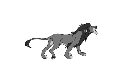Lion lineart 3 by Tau-of-Heart