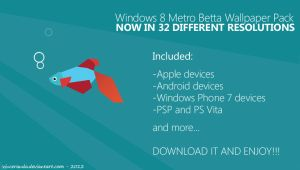 Windows 8 Modern Betta Wallpaper PACK by metrovinz