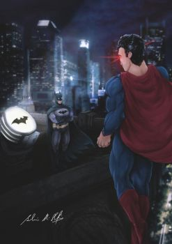 Batman V Superman by Frostbite194