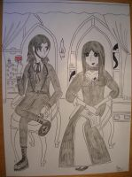 Gothic couple by saramarconato
