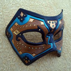 Teal Persian Leather Mask by merimask