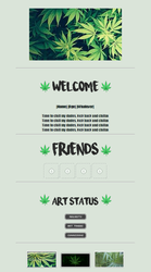 Request: Weed Aesthetic Non-Core Code F2U by testingcodesaccount