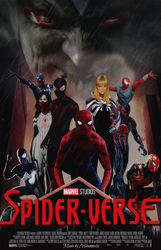 Spider-verse movie poster  by ArkhamNatic