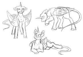 Daily Draw #121 - Detailed Style Sketches by WhiteHershey