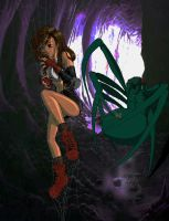 Tifa in the Spider's Net by burnup19