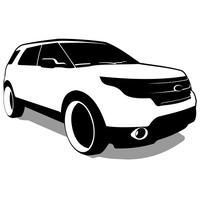 Ford Explorer vector by ivprogrammer