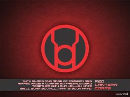 Red Lantern Corps Wallpaper by Willianac