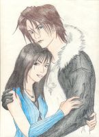 Squall and Rinoa by oathkeeper6
