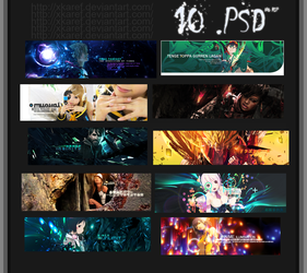 PACK: 10.PSD by xKaref