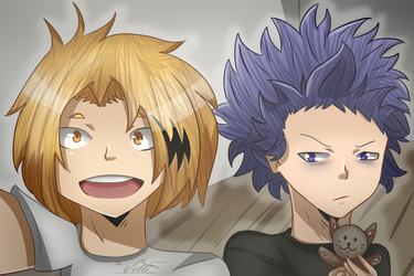 Denki And Shinsou by nellydrawings