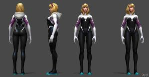 Spider Gwen (Unmasked) - Future Fight by SSingh511