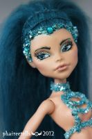 Monster High custom  Nefera mermaid portrait by phairee004