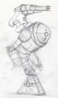 The Robot 002 ruff pencil sketch by Dtrain1
