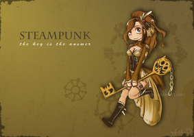 Steampunk Key by H-Chan-Arts