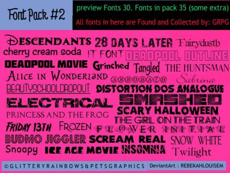 Fonts Pack #2 by RebekahLouiseM