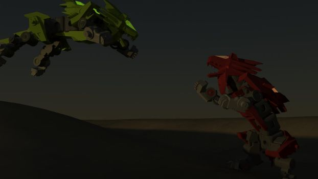Zoids: Leoblaze - Light VS Dark - Evening Rework by flack41940