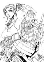 TF Roll Out Black and White by TheBoo