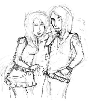 Shay and Mike sketch by Mekari