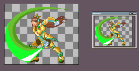 Lunette Reploid slash animation WIP by Meeche-Max