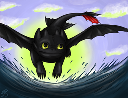 Toothless by Blitzy-Arts