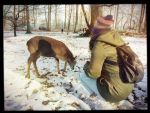 Deer and me by Noodlecuppie