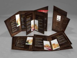 2 fold with die-cut menu by pampilo