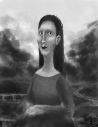 Mona Lisa Study by tHe-ClumZy-Me