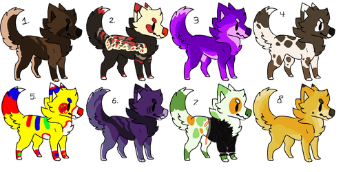 Canine Adopts (CLOSED) by nijimillions