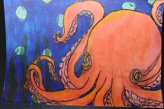 Sharpie Octopus 6-17-17 by wolf-girl87
