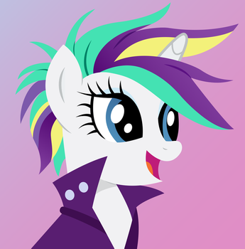 [Vector] Rarity as Punk #3 by PaganMuffin