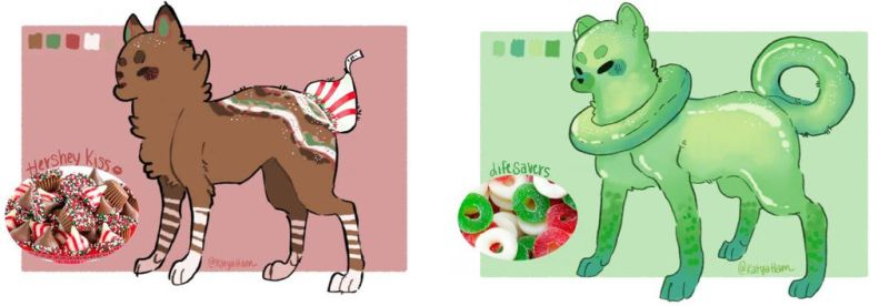 [CLOSED] Candy Tailed Cats Christmas ADOPTS!! by KatyaHam