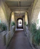 Atalaya Castle Covered Walkway 2 Stock by DLR-Designs