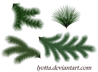 Christmas green trees and twigs by Lyotta