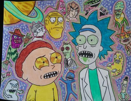 Rick and Morty by CharlesLeeRay1